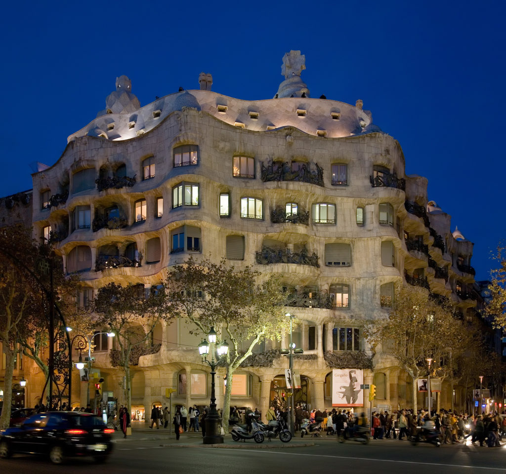 Casa Milà   Barcelona Spain   Jan 2007 1024x960