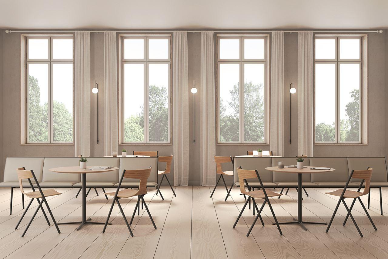 Nowe krzesło Quadra autorstwa Mario Ferrariniego dla Viccarbe