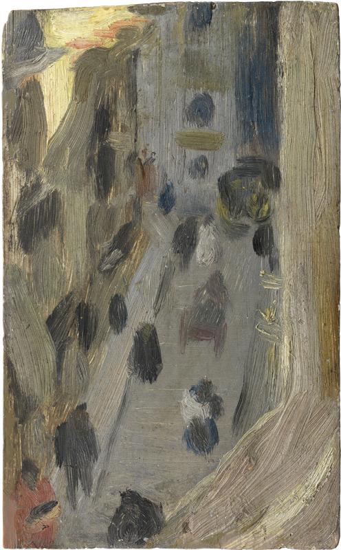 Pablo Picasso Ulica Riera de Sant Joan z okna pracowni artysty