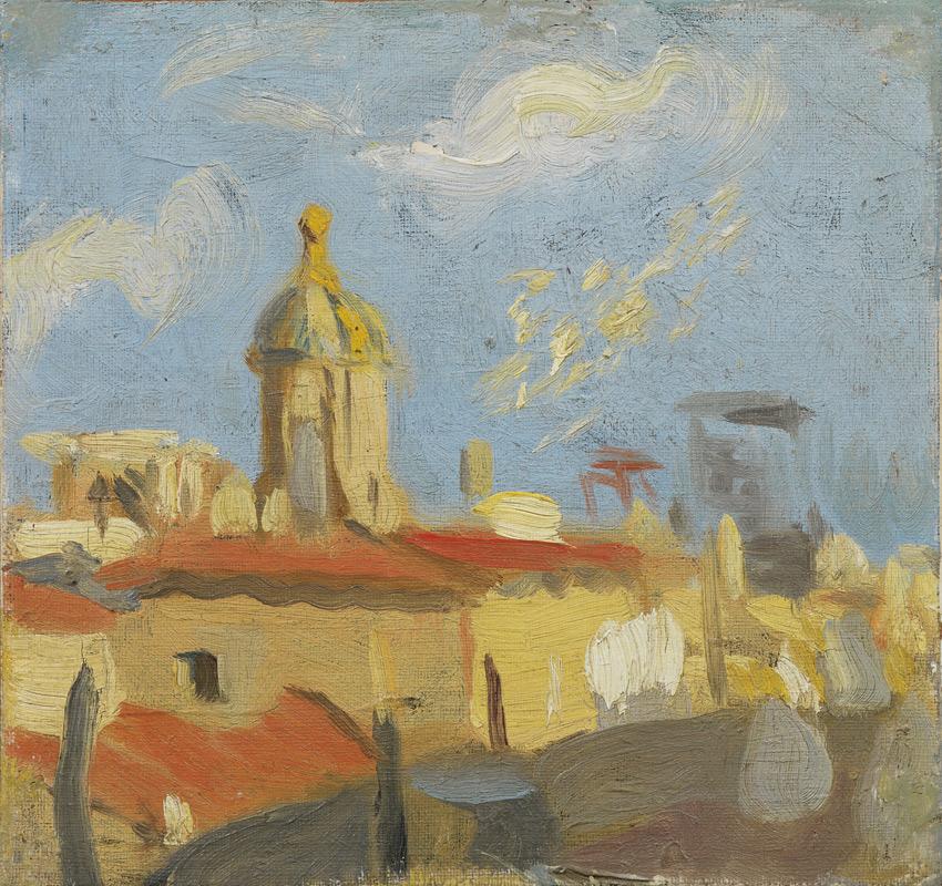 Pablo Picasso Dachy i kościół Santa Marta