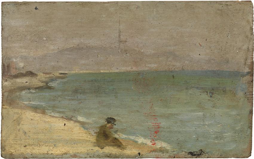 Pablo Picasso Mężczyzna siedzi na plaży Barceloneta