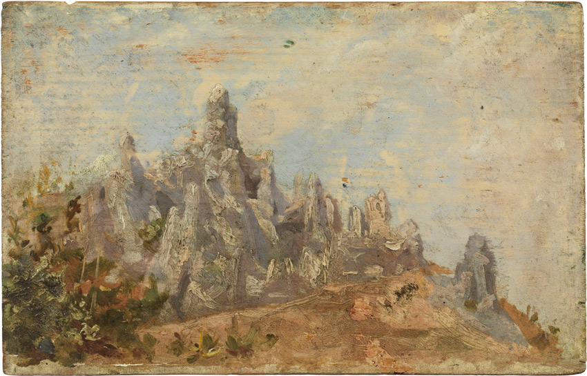Pablo Picasso Fałszywe góry Montserrat w parku