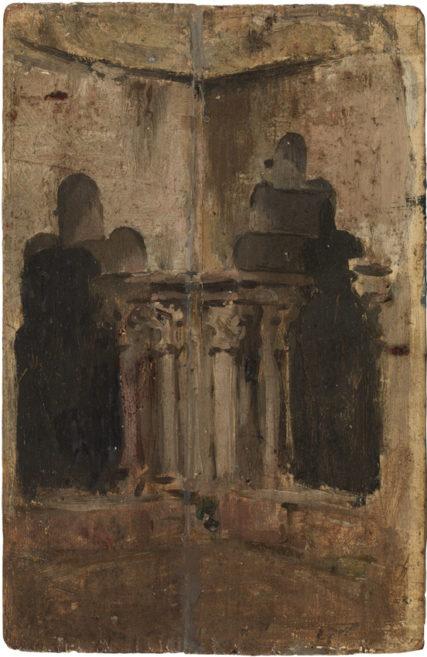 Pablo Picasso Kąt klasztoru Sant Pau del Camp Barcelona, grudzień 1896 r